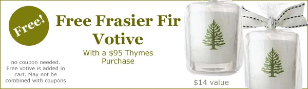 Free Frasier Fir Votive