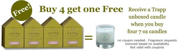 Free Trapp unboxed Candle